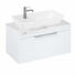 Britton Shoreditch Wall Hung 850mm Vanity Unit with Yacht Countertop Basin Single Drawer White