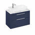 Britton Shoreditch Wall Hung Double Drawer 850mm Vanity Unit with Yacht Countertop Basin Blue