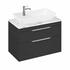 Britton Shoreditch Wall Hung Double Drawer 850mm Vanity Unit with Yacht Countertop Basin Grey