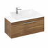 Britton Shoreditch Wall Hung Single Drawer 1000mm Vanity Unit with Yacht Countertop Basin Caramel