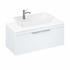 Britton Shoreditch Wall Hung Single Drawer 1000mm Vanity Unit with Yacht Countertop Basin White
