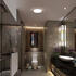 Room Scene with Round Bathroom Ceiling Light with Edge Lit Feature