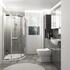Large Bathroom Suite, with Shower, Toilet, Basin and Mirror Cabient