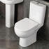 Room Scene Showing Open Back Close Coupled Toilet with Soft Close Seat