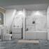 Ashford 800 Grey Bath Suite Vanity Toilet Shower Bath