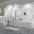 Pearl Grey Bathroom Suite for Large Bathrooms