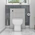 Toilet with Back to wall unit in pearl grey
