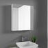 Open Door image of White Mirrored Medicine Cabinet for Pemberton, Patello, Jivana and Sonix