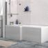 Grey L Shaped Bath Panel