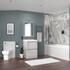 Straight Bath Suite in Grey