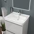 Light Grey bathroom furniture vanity unit with basin