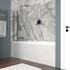 Shower Bath with light grey bath panel
