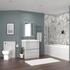 Bathroom  Suite in light grey for a medium bathroom