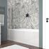 Light Grey Straight Shower Bath