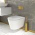 Jivana Suite Straight Bath 1200 White Basin Unit Wall Hung Toilet