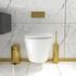 Jivana Suite Straight 1700 Bath 1200 Grey Vanity Wall Hung Toilet