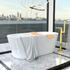 Jivana Suite Large Bath 1200 Twin Sink White Vanity Wall Hung Toilet