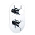 Product cutout image showing Tweed Round Shower Valve Twin 2 Outlet