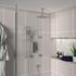 Ribble 3 Outlet Ceiling Shower Set Head Handset Bath Filler
