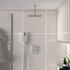 ribble squared 2 outlet shower head with handset and valve