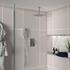 Ribble 2 Outlet Ceiling Shower Set Head Handset Bracket