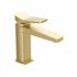 Hix Brushed Brass Single Lever Basin Mixer