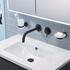 JTP Vos Matt Black Spout for Bath or Basin 150mm
