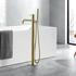 JTP Vos Brushed Gold Floor Standing Shower Bath Mixer Tap with Handset