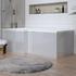Angled Side View of Ashford Pearl Grey Shower Bath MDF Panel