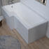 Angled Top View of Ashford Pearl Grey L-shape Bath Panel