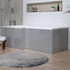 Angled Side View of Grove Grey MDF Core Bath Panels