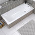 Angled Top View of Luxury MDF Acrylic Bath Panel All Sizes
