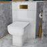 Angled Lifestyle View of the Jivana Back to Wall Toilet Unit in White