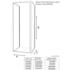 Tech Drawing of Radiant Deluxe One Wall Shower 760 Pivot