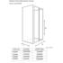 Tech Drawing of Radiant Deluxe One Wall Shower 760 Bifold