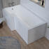 Angled Top View of White Gloss MDF L Shape Bath Panels