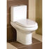 White cistern with curved pan and soft close seat