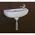 white ceramic basin with chrome mono basin tap