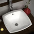 White Square Counter Top Basin with integrated waste and mono tap