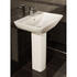 Summit Range Basin and Pedestal with Chrome mono Basin Tap and Basin Waste