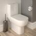RAK Series 600 Cistern with Chrome Flush Button and Close Coupled Pan