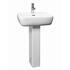 White Ceramic Metropolitan Basin and Pedestal with Optional Chrome Basin Tap
