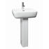 White Ceramic Metropolitan Basin and Pedestal with Optional Chrome Basin Tap
