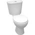 Jazz Close Coupled Toilet & Seat curved Modern