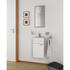 White Wall Hung Mirror Cabinet with Glass Shelves