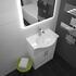 Ecco 550 Vanity Unit With Basin (White) curved Unique Design and Stylish Bathroom Accessory