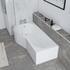 acrylic modern quality acrylic modern quality Ethan 1700 P Shaped Shower Bath Left Handed Model