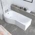 Angled Room-scene Top View of Ethan P Shape Shower Bath