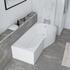 Angled Top View Showing Room Scene of Ethan P-shaped 1700 Shower Bath