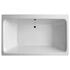 King Size double ended white whirlpool bath with
